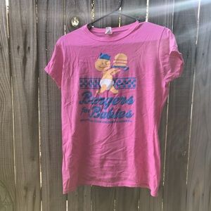 Pink burgers for babies cooks childrens shirt
